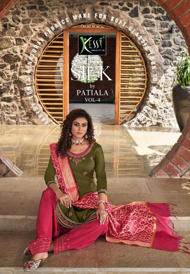 Kessi Silk By Patiyala Vol 4 Fancy Punjabi Patiala Suit Catalog Wholesale Price