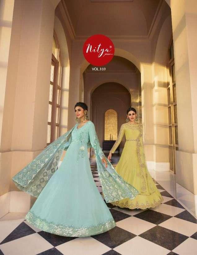 LT Fabrics Nitya Vol 169 Designer Party Wear Semi Stitched Dress Collection