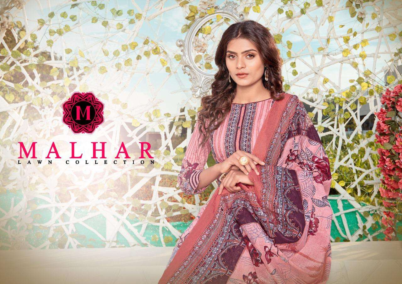 Malhar Lawn Collection Printed Karachi Dress Material Catalog Wholesale Price