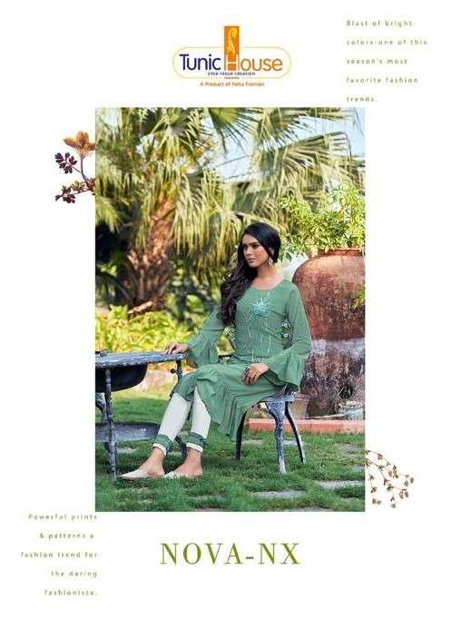Neha fashion Nova NX Designer Georgette Kurti pant Set Catalog Supplier