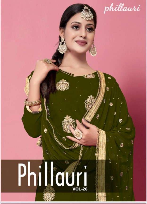 Phillauri Vol 26 Fancy Work Party Wear Patiala Dress Collection in Wholesale Price