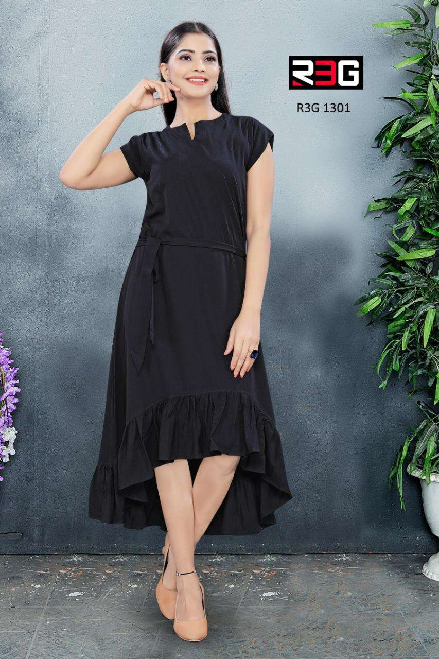 R3G Fashion design No 013 Fancy Maxi Dress Catalog Wholesale Supplier