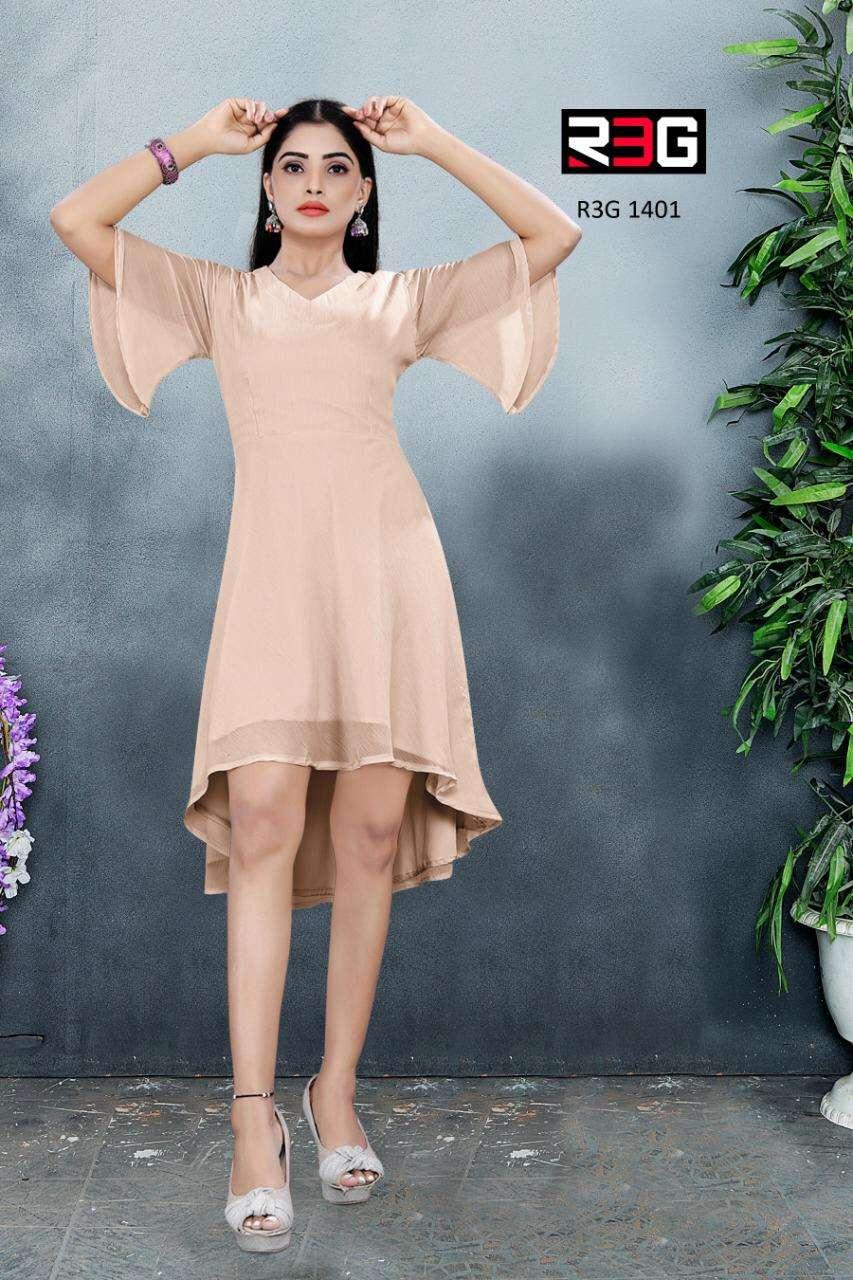 R3G Fashion Design No 014 Fancy Western Wear one Piece Modern Dress