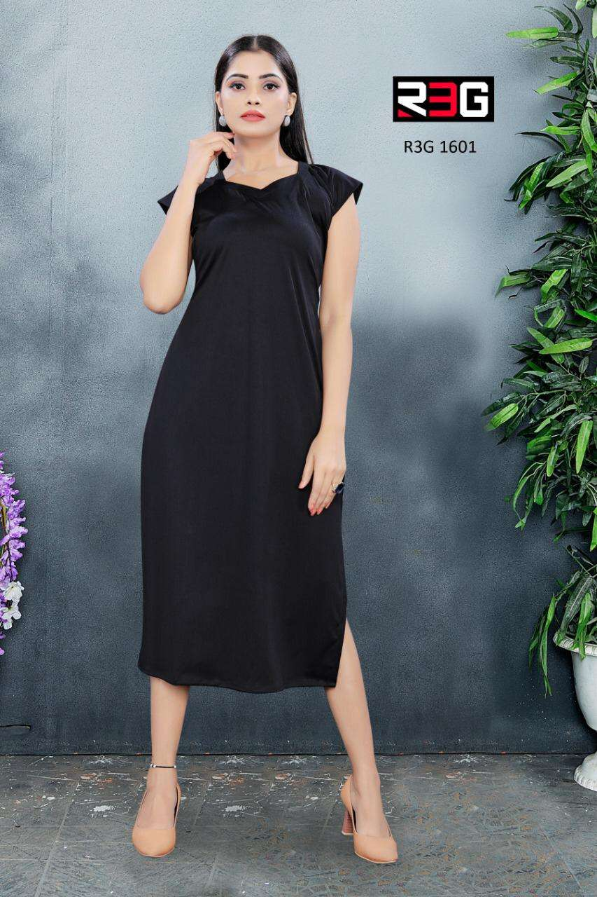 R3G Fashion Design No 016 Lycra Fitted Maxi Dresses New Designs