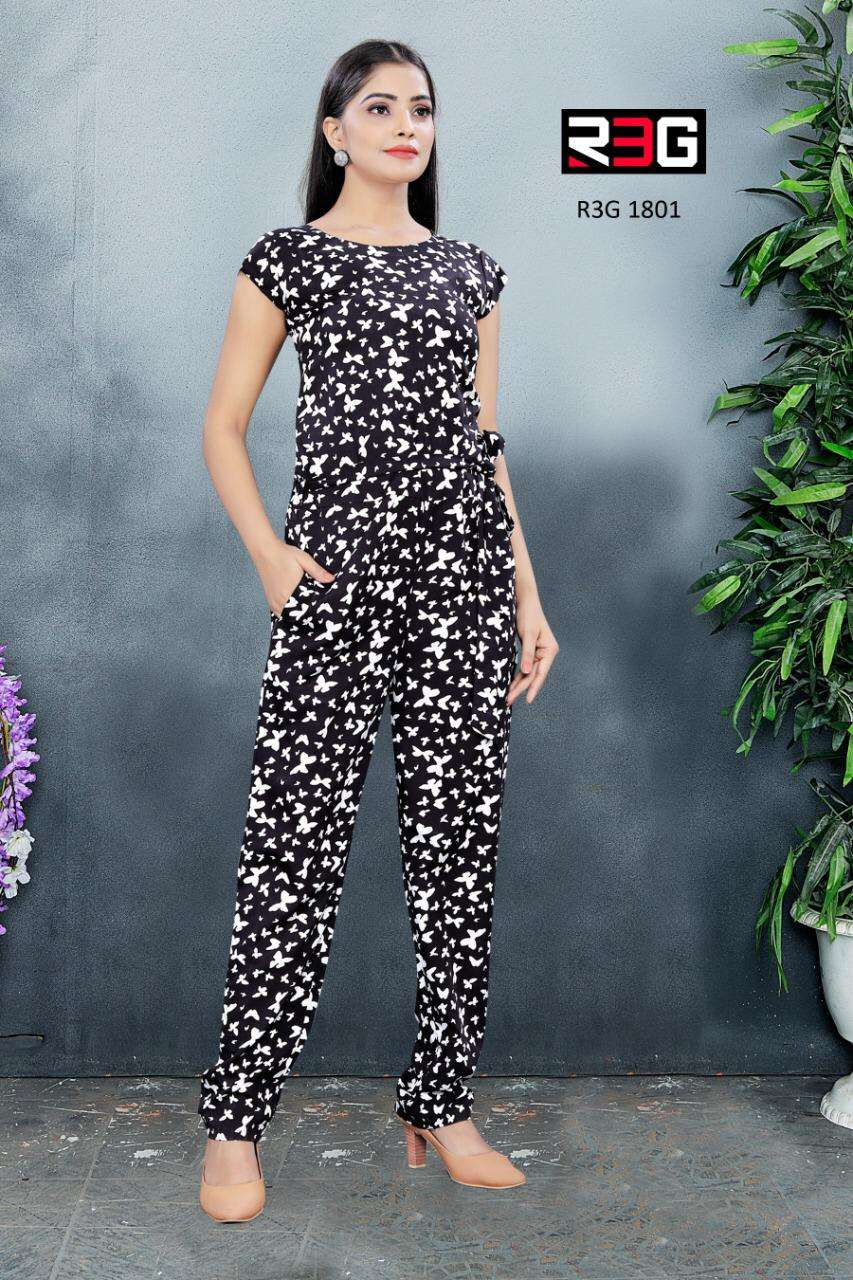 R3G Fashion Design No 018 Printed Jump Suit Catalog Wholesaler