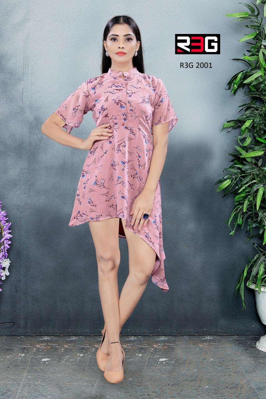 R3G fashion Design No 020 Modern Mandarin Collar Tunic Western Wear Collection