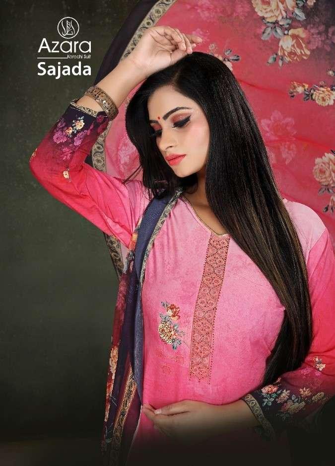 Radhika Azara Sajada Digital Print Crepe Suit Catalog Supplier in Surat