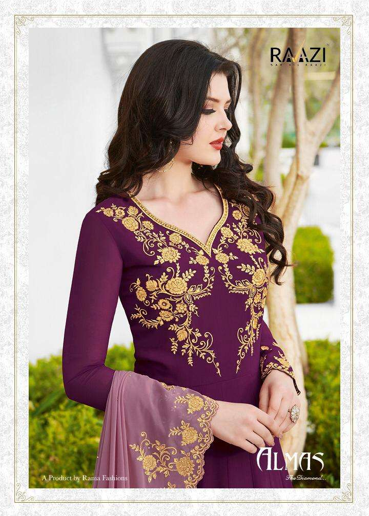 Rama Fashion Almas The Diamond Heavy Work Anarkali Suit catalog Wholesale Supplier