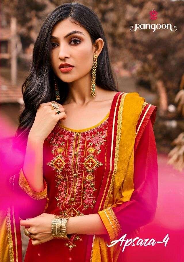 Rangoon Apsara Vol 4 Designer Lehenga Style Salwar Kameez catalog Wholesaler