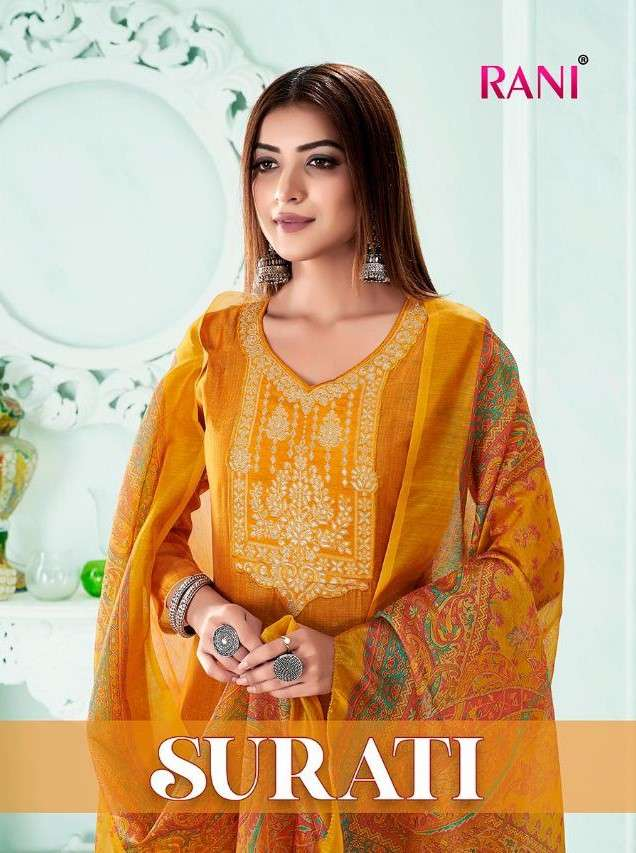Rani trends Surati Modal Chanderi Salwar Kameez catalog Wholesale Price