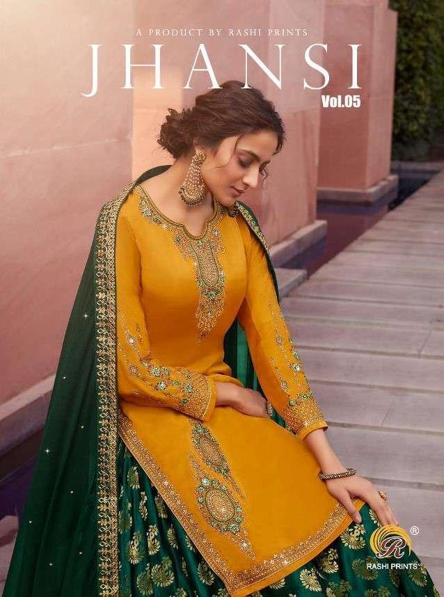 Rashi Jhansi Vol 5 Party Wear Lehenga style Salwar Kameez Catalog Supplier at Best Rate