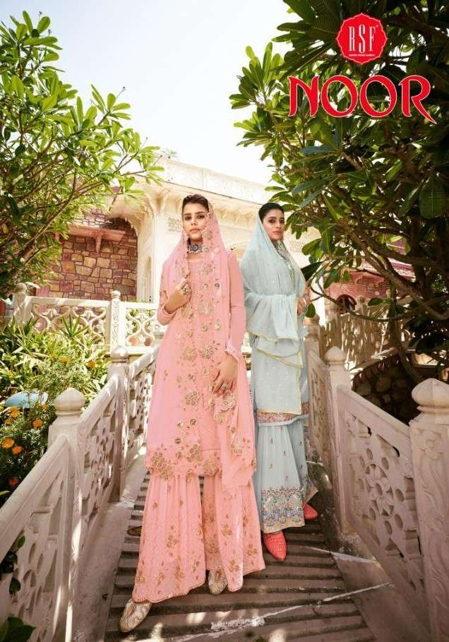 RSF Noor Plazzo Sharara Party Wear Dress catalog at best rate Buy Online