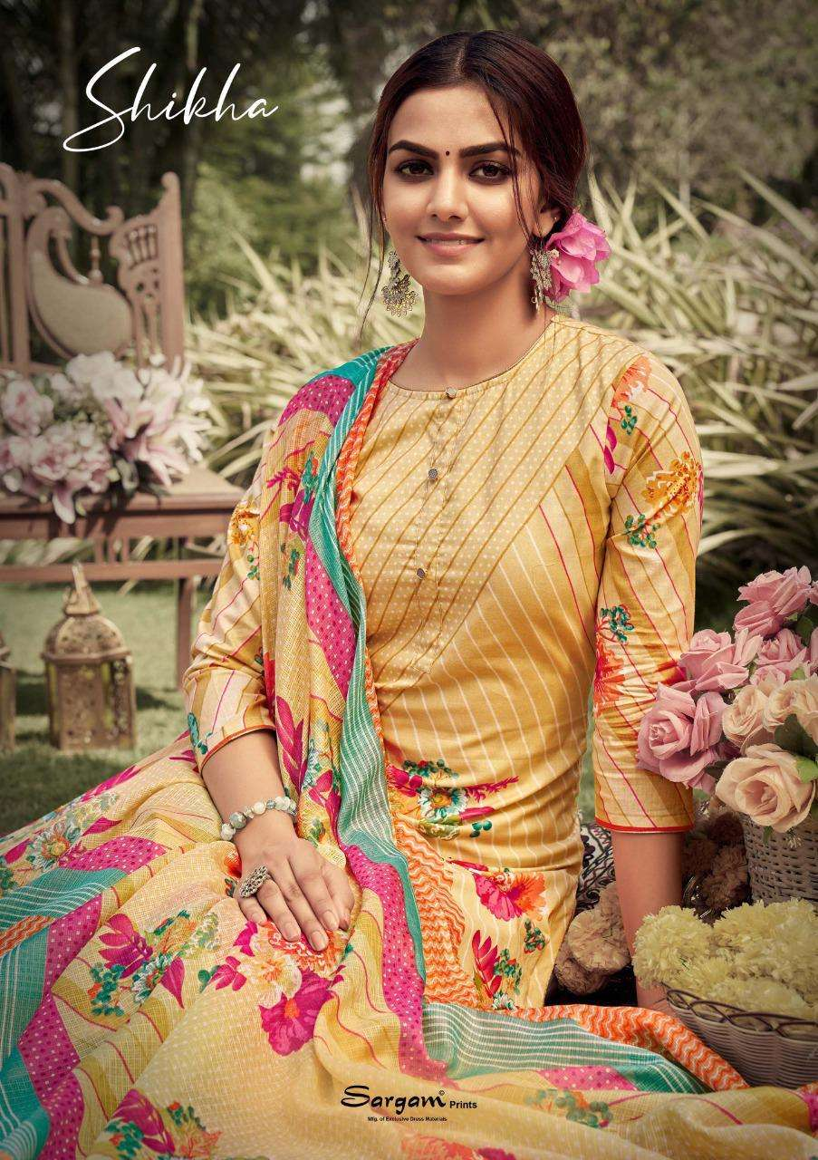 Sargam Shikha Designer Print Cotton Salwar Kameez Catalog Wholesale Price