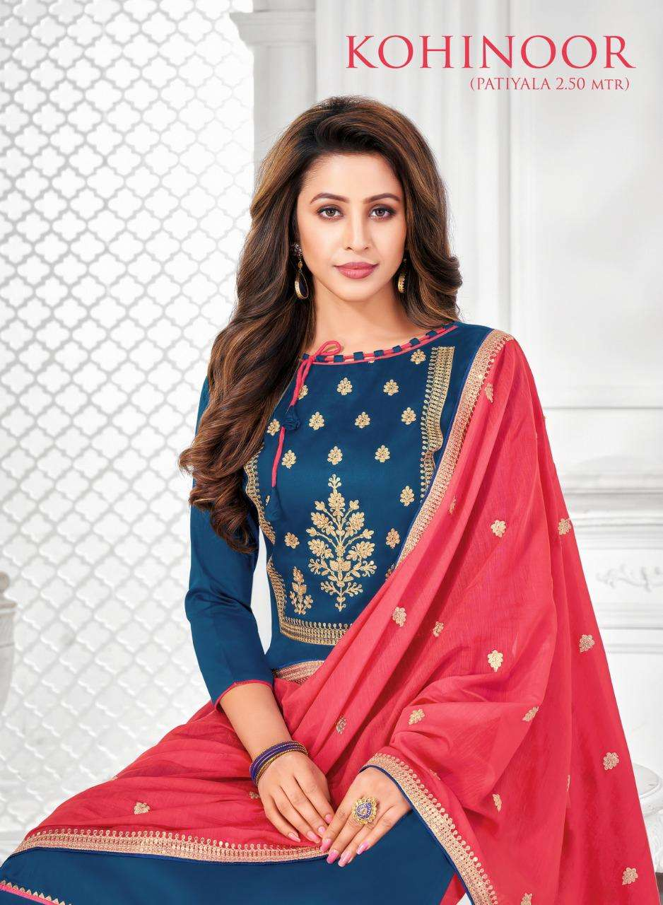 Shagun Lifestyle Kohinoor Casual Patiyala Dress Material New Collection in Wholesaler