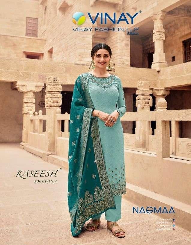 Vinay Fashion Kaseesh Nagmaa Designer Straight Suit New Catalog in Wholesale