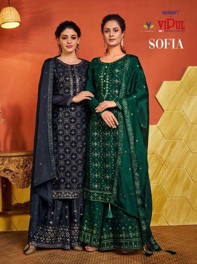 Vipul fashion Sofia Designer Party Wear Salwar Kameez Catalog Supplier at Best Rate