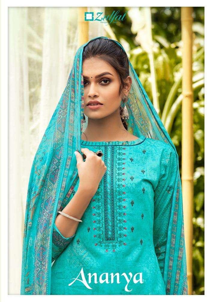 Zulfat Ananya Fancy Embroidery Cotton Salwar Kameez Catalog Wholesale Price