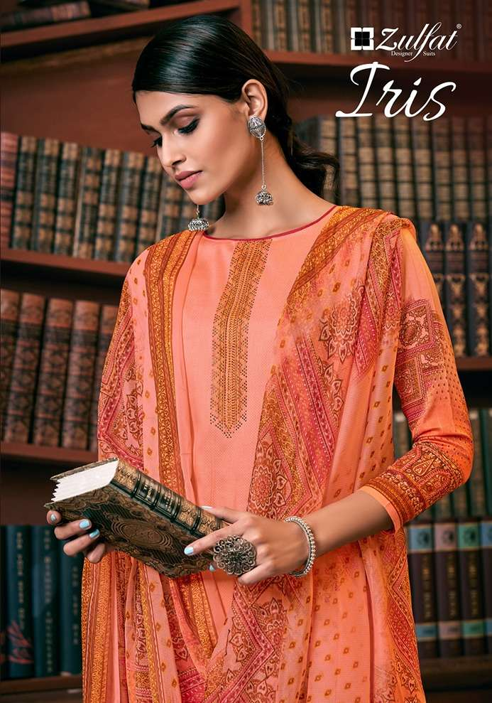 Zulfat iris Digital Print Cotton Salwar Kameez Catalog Supplier in Surat