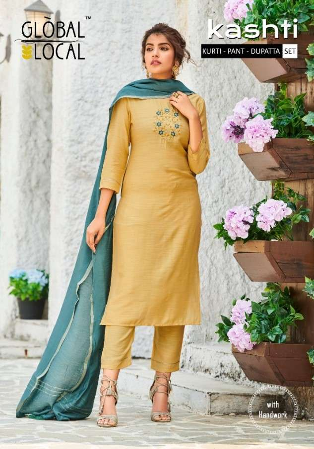 Global Local Kashti designer 3 Piece Set New Collection in Wholesale