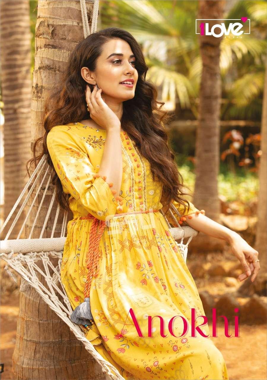 1Love Anokhi By S4U Latest rayon Printed Designer Kurti Gown Collection