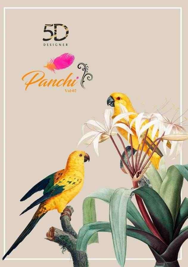 5D Designer Panchi Vol 2 Printed Georgette Saree Catalog at Best Rate