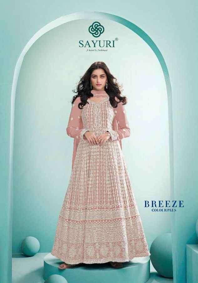 Aashirwad Breeze Colour Plus Designer Lucknowi Work Anarkali Dress patterns