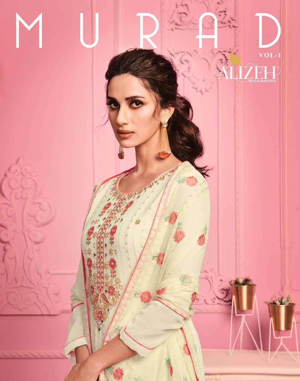 Aliizeh Murad Vol 1 Party Wear Straight Suit Collection at Best Rate