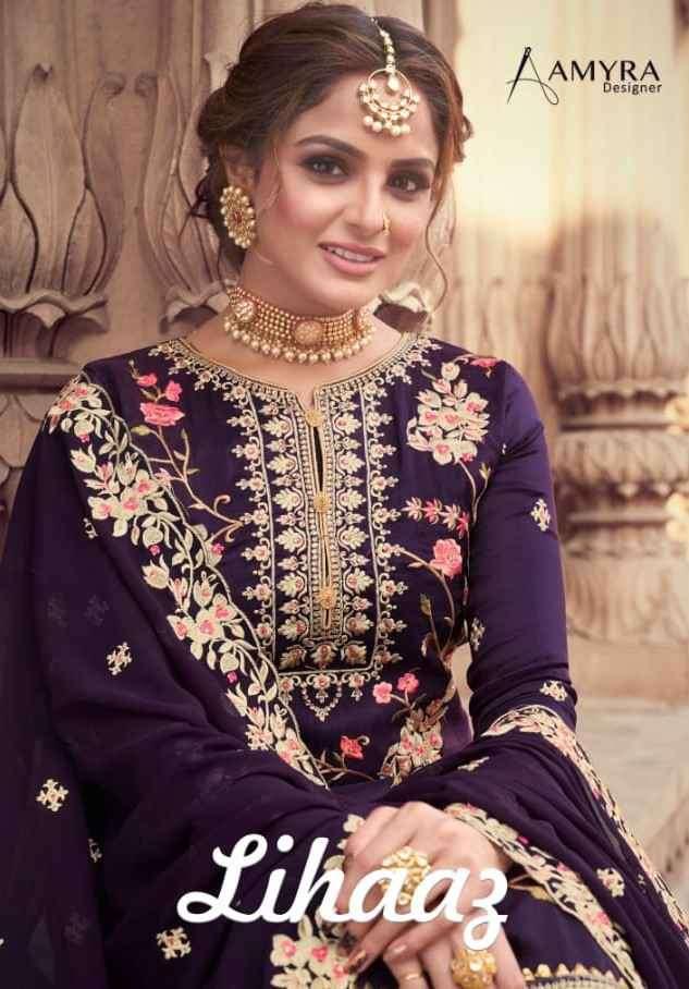 Amyra Designer Lihaaz Designer Sharara Salwar Suit Catalog Wholesaler