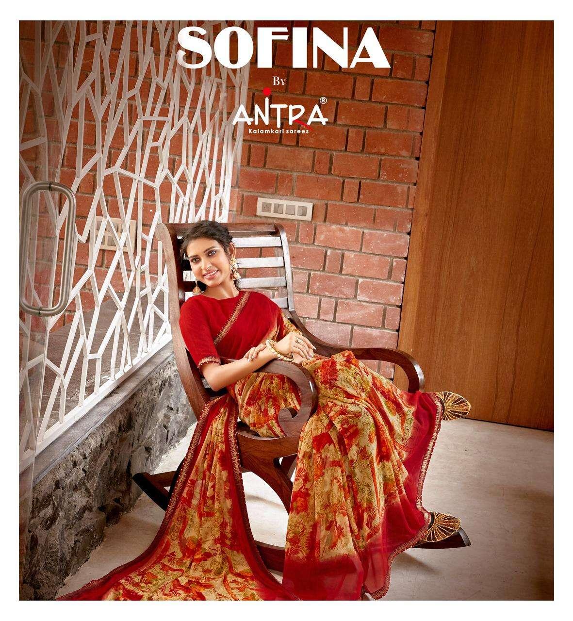 Antra Sofina Weightless Print Lace Saree Catalogue