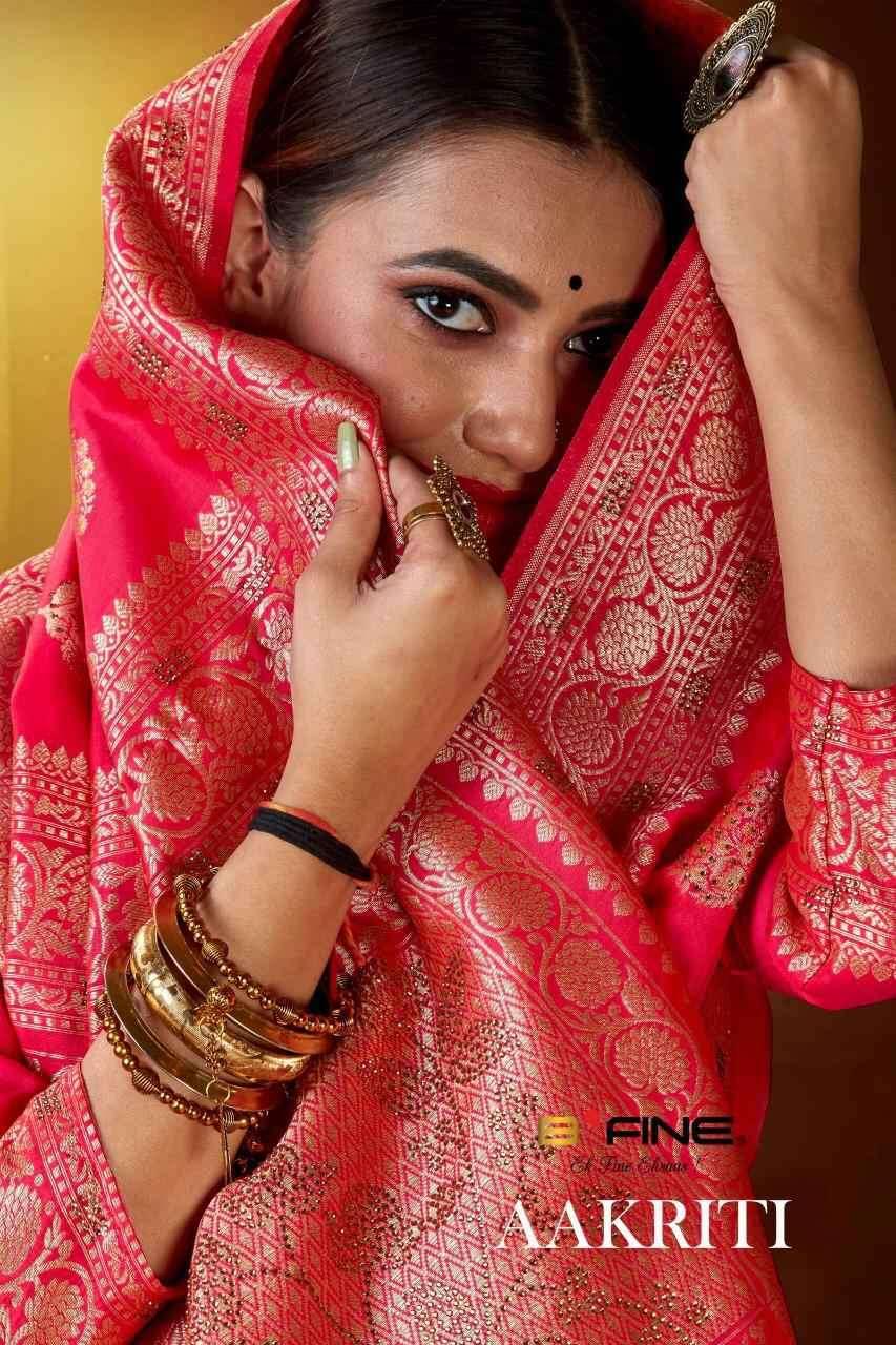B Fine Aakriti Exclusive Banrasi Silk Saree Catalog Wholesale Price
