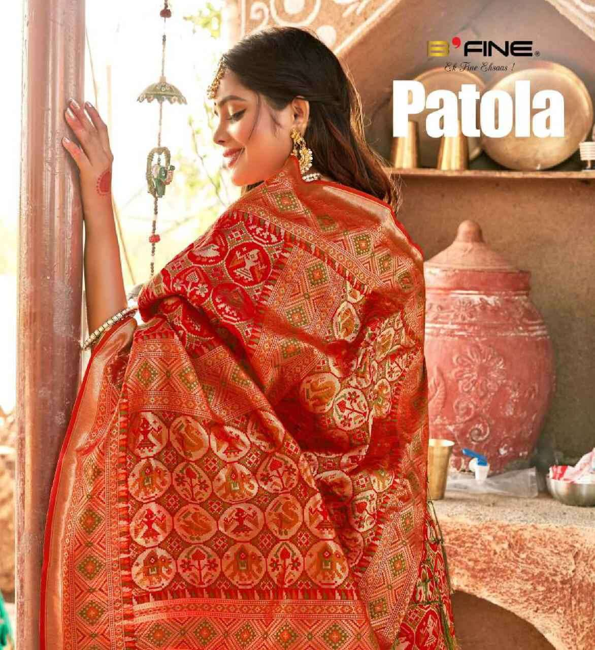 B Fine Patola Exclusive Banarasi Silk Saree New Designs in Wholesale Price