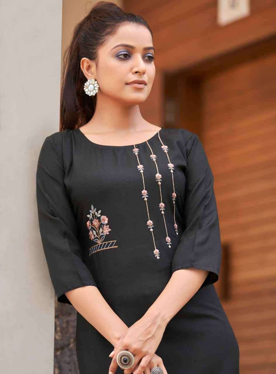 Banwery Paheli Embroidery Cotton Kurti Catalog Supplier at Best rate