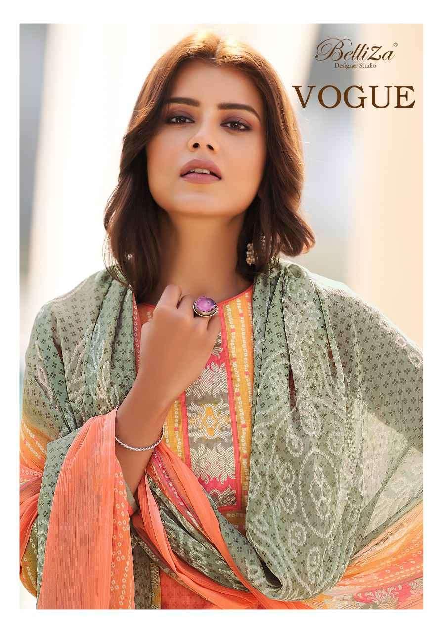 Belliza Vogue Exclusive Print Cotton Ladies Suit Wholesale Dealer