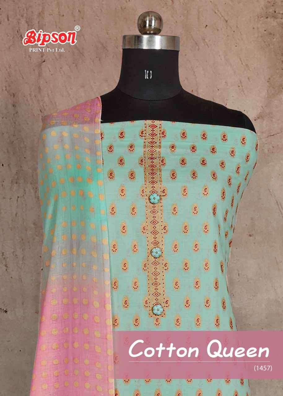 Bipson Cotton Queen 1457 Cotton ladies Suit Supplier in Wholesale price