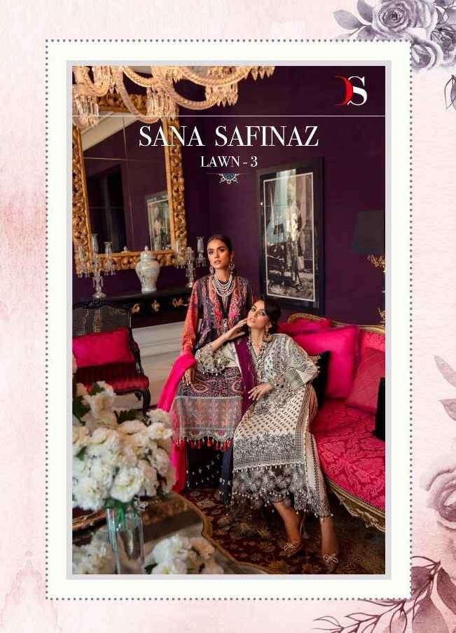 Deepsy Sana Safinaz Lawn Vol 3 Cotton Fancy Pakistani Suits Dealer