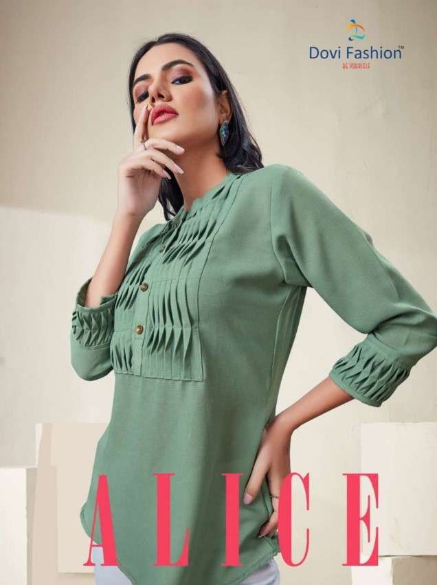 Dovi Fashion Alice Imported Fabric Short Tops In Catalog Wholesale Dealer