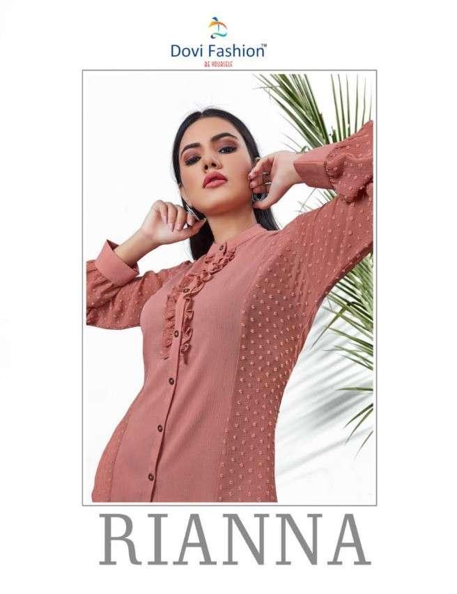 Dovi Fashion Rianna Chiffon Imported Fabric Short Tops