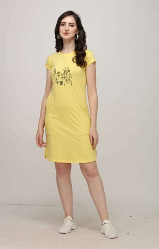 Dovi Fashion Short Nighty Cotton Western Night Wear In Wholesale