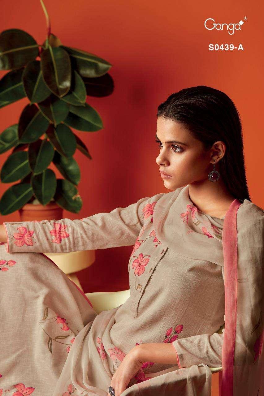 Ganga Deeba 439 Cotton Linen Exclusive Design Suits Wholesale Price