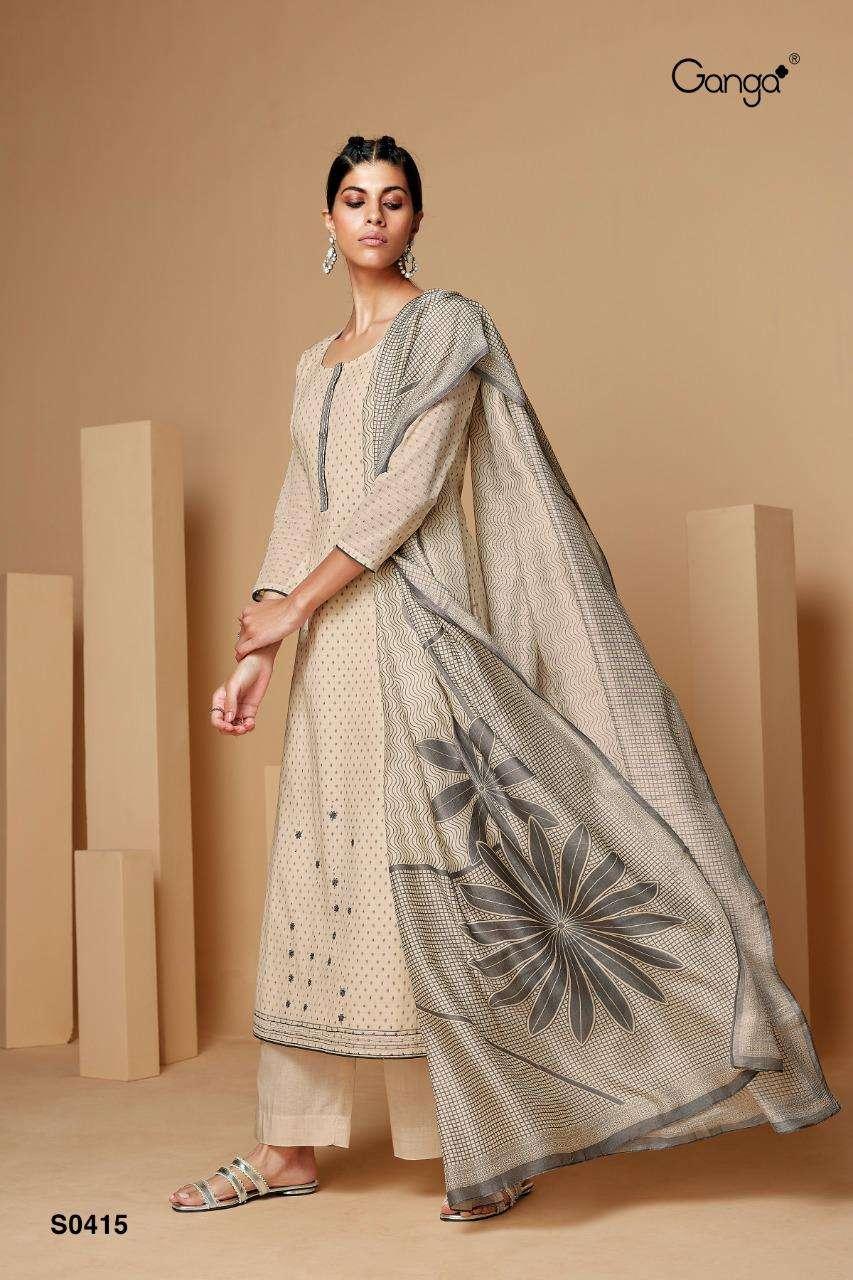 Ganga Fashion Deeba 415 and deeba 416 Designer Print Cotton Suit Catalog Supplier