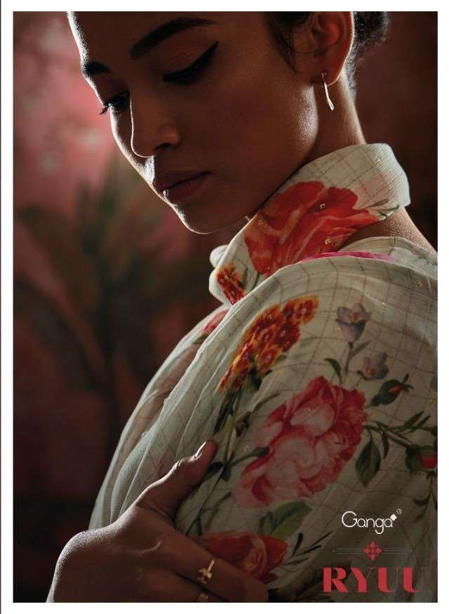 Ganga Fashion Ryuu Cotton Printed Designer Suits Catalogue Dealer