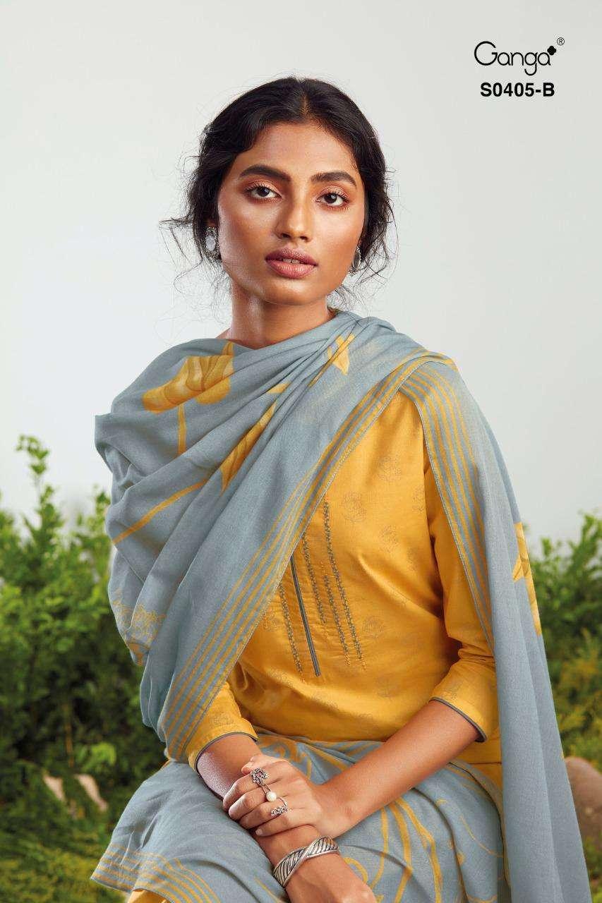 Ganga Tierra 405 Cotton Designer Salwar Kameez Wholesale Catalog