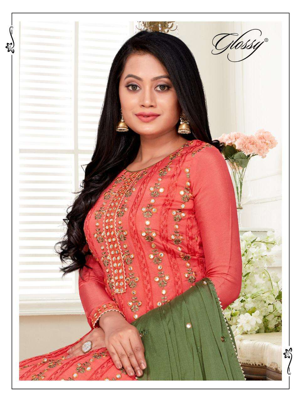 Glossy Jhullan Designer Sharara Dress New Collection at Best Rate