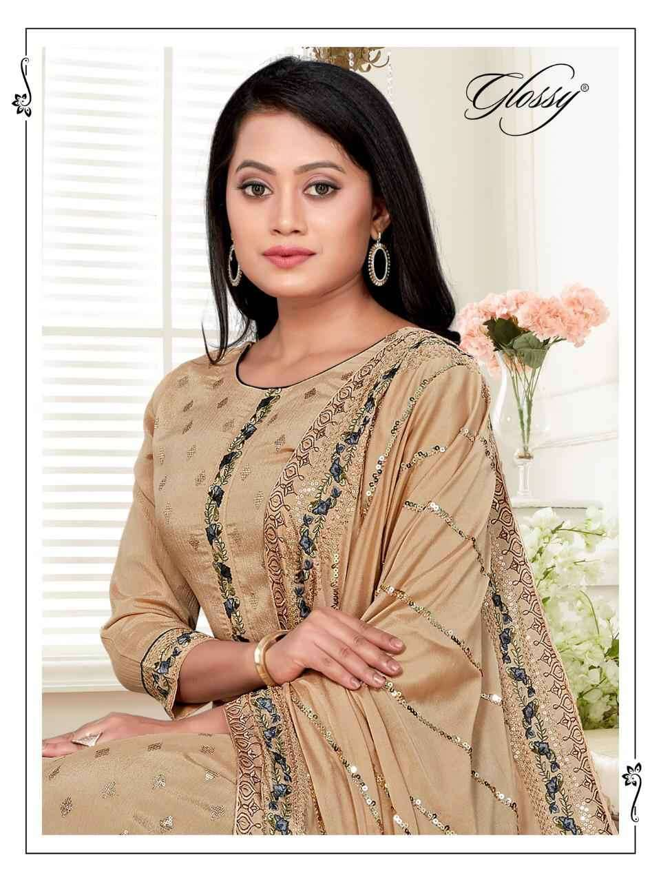 Glossy Mittali Designer party Wear Straight Suit Catalog Wholesale dealer