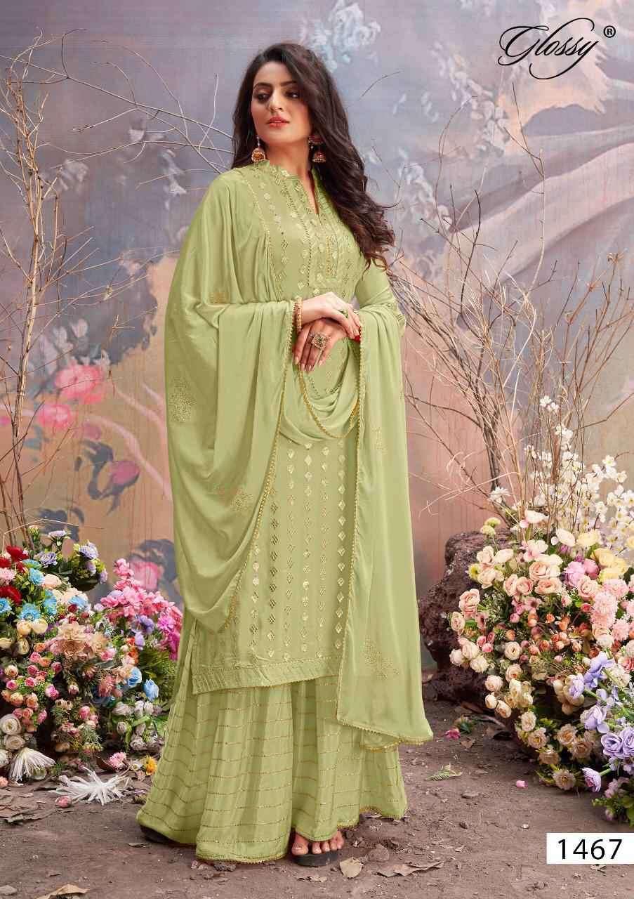 Glossy Nazia 1467 Plazzo Style Dress latest Design In Wholesale Price