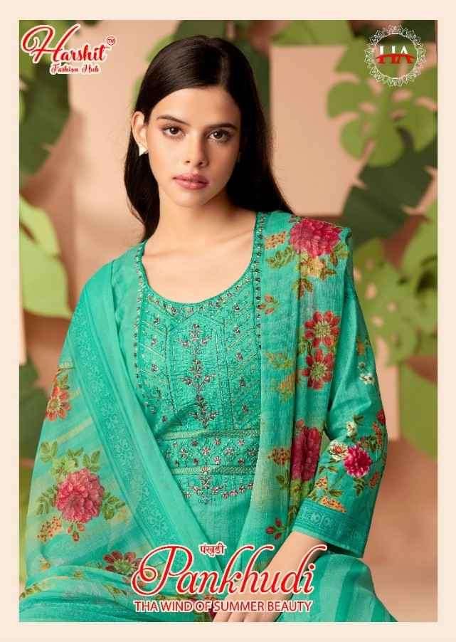 Harshit Pankhudi Cotton Digital Print Ladies Suit Catalog Wholesaler