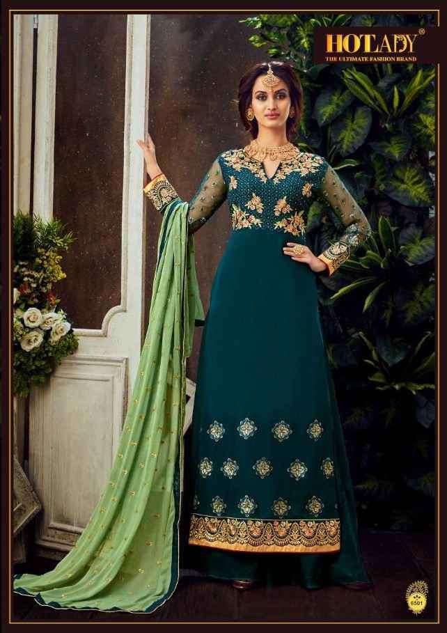 Hotlady Mahika Exclusive Work Straight Ladies Suit Catalog Wholesaler