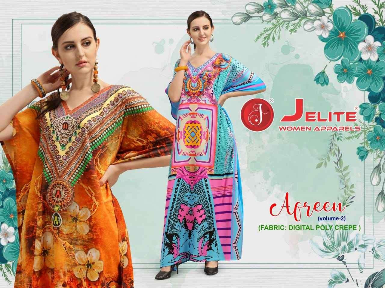 Jelite Afreen Vol 2 Digital Print Kaftan New catalog Supplier