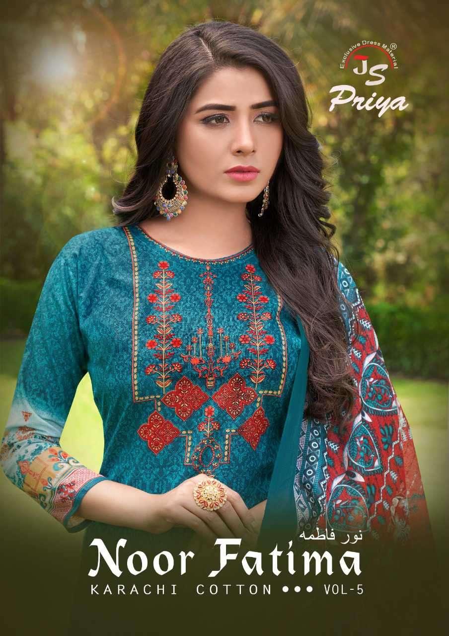 JS Priya Noor Fatima Vol 5 Karachi Cotton Printed Suit Dealer