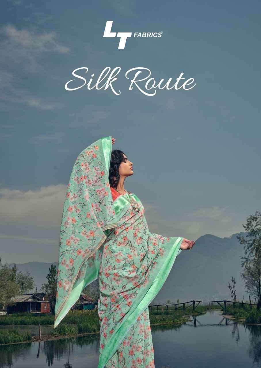 Kashvi Silk route fancy Printed Silk Saree Catalog Wholesale Price